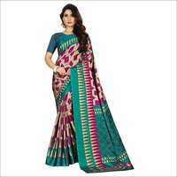 Box Printed Pencil Silk Saree