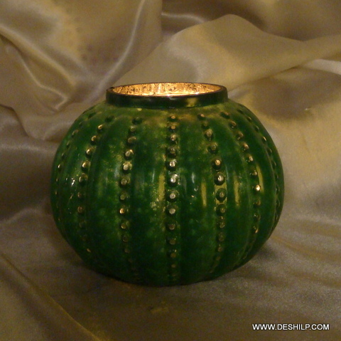 SILVER FINISH CANDLE VOTIVE
