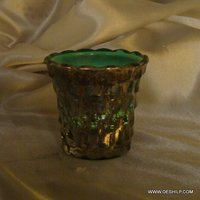 ANTIQUE FINISH GLASS MADE CANDLE HOLDER