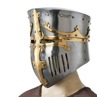 Medieval Bucket Barrel Helmet