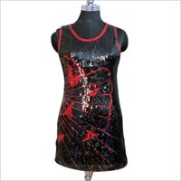 Front Sequin Dress