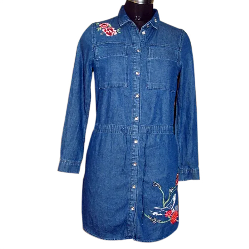 Elbow Denim Tunic