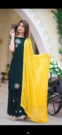 Ladies Designer Sarara Suit