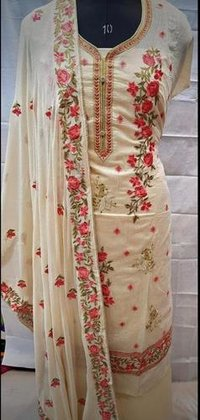 Chanderi Silk Suit Salwar Fabric