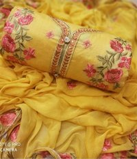 Chanderi Silk Suit Salwar Fabric