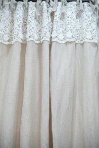 LINEN CUTWORK EMBROIDERY CURTAIN