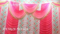 Parda for wedding tent decoration