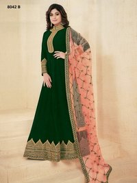 Abaya style BROWN Georgette Anarkali Suit