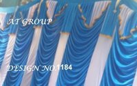 Parda sidewall tent decoration