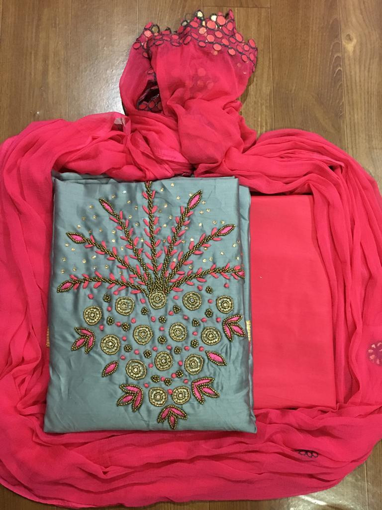Designer Latest Hand Work Dress Material
