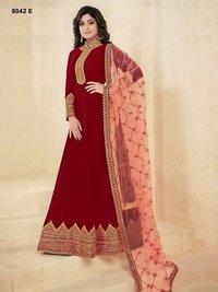 Abaya style MAROON Georgette Anarkali Suit