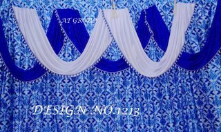 Fancy crystal parda design