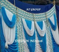 Latest tent parda fabric price
