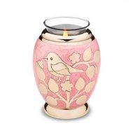 Blessing Birds Gold Tealight Urn