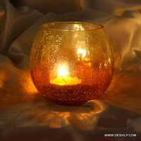 CREAK GLASS COLORFUL VOTIVE