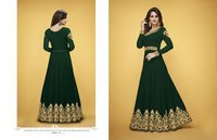 Abaya style green Georgette Anarkali Suit