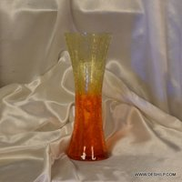 GLASS COLORFUL FLOWER VASE
