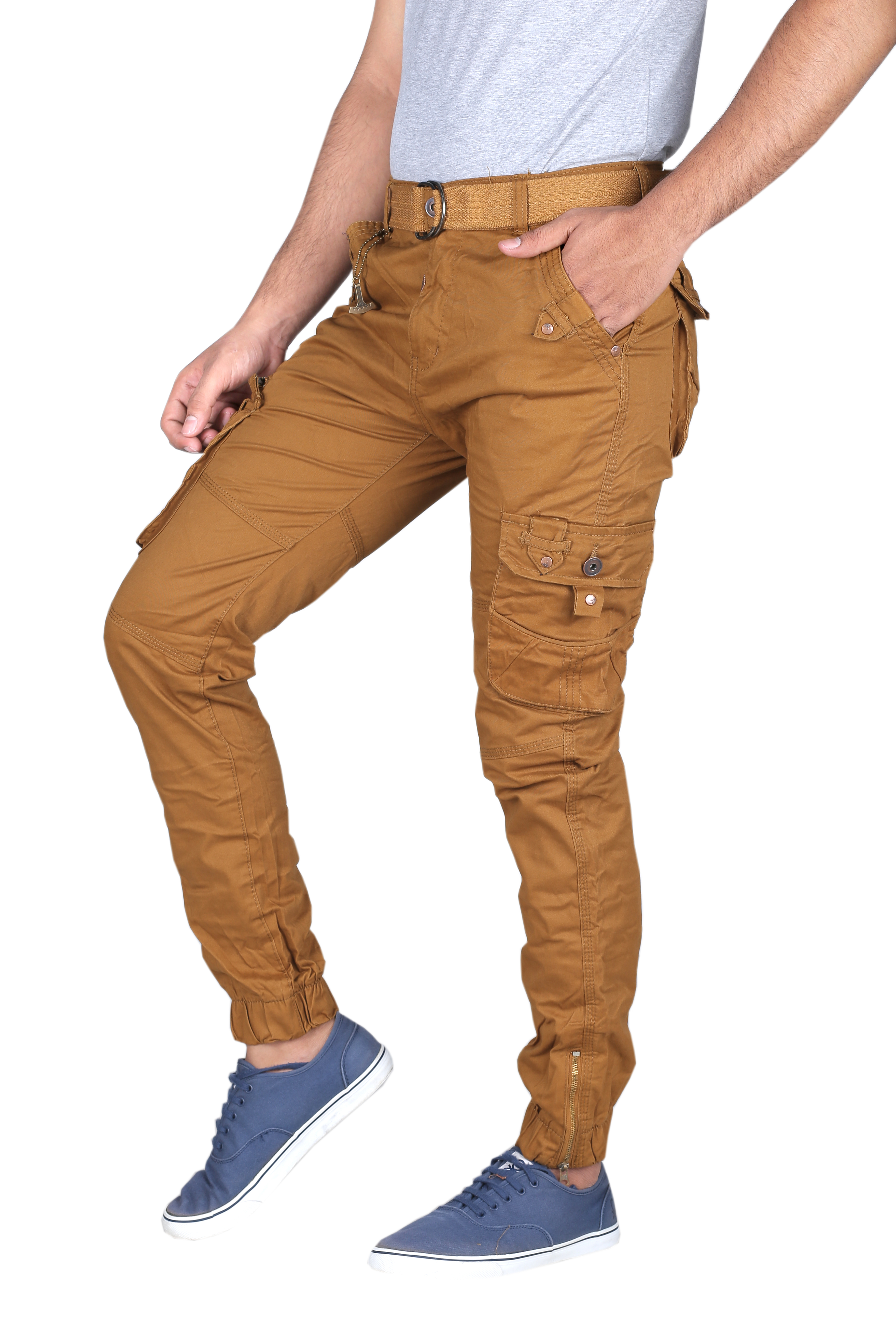 Mens Casual Cargo Trouser