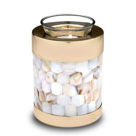 Tealight Mother Of Pearl Cremation Urn