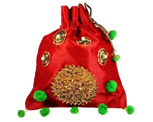 Raw Silk Potli Bag