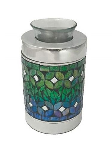 Blue Mosaic Tealight Keepsake Cremation Urn