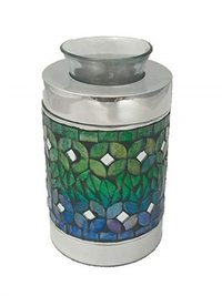 Blue Mosaic Tealight Keepsake Cremation Urn