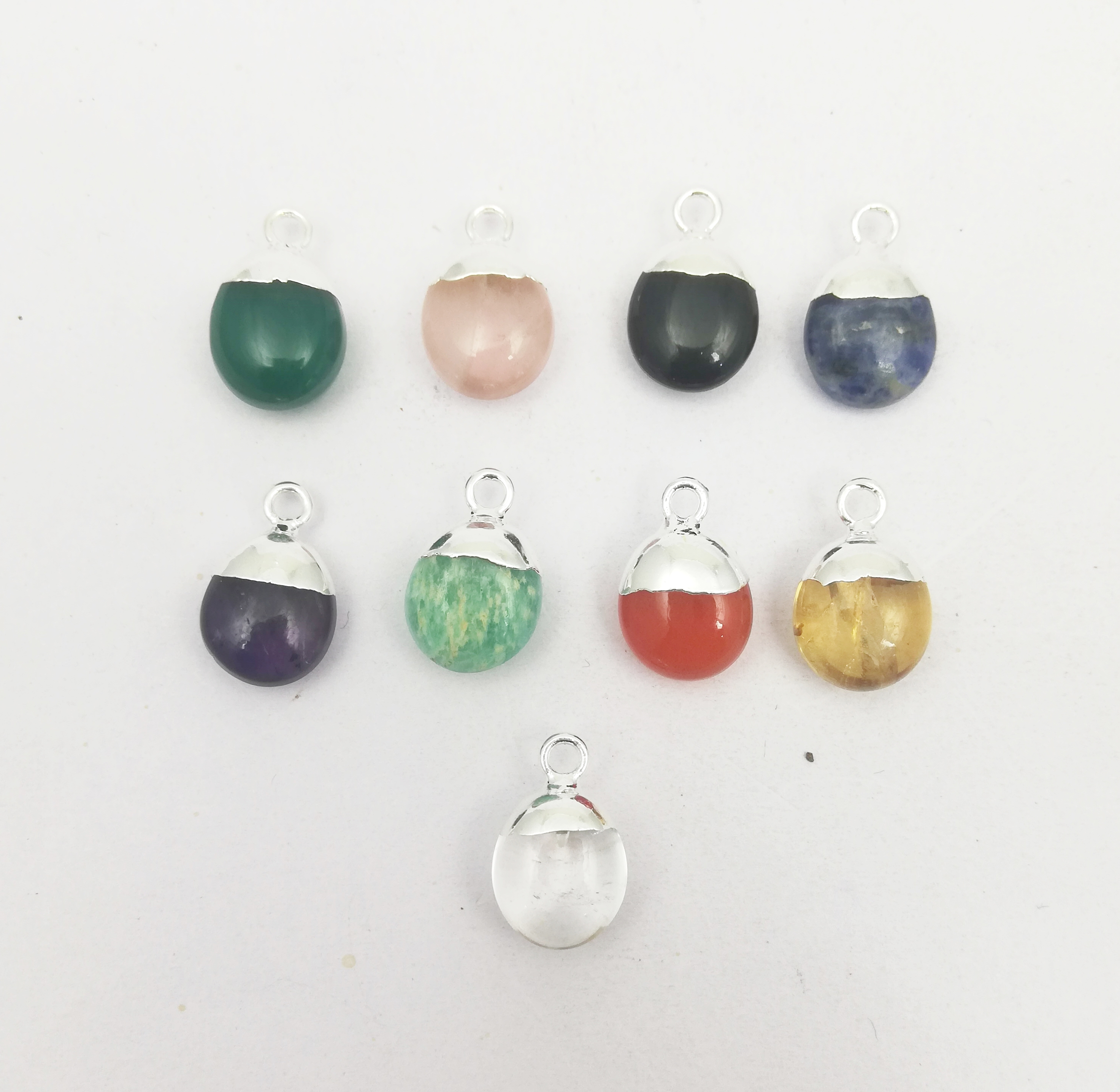 Semi Precious Gemstone Smooth Tumble Charm