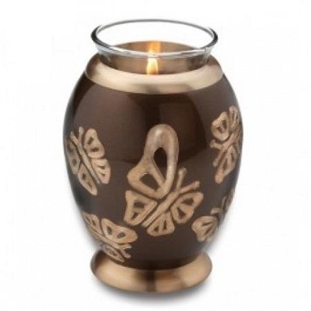 TeaLight Butterflies Cremation Urn