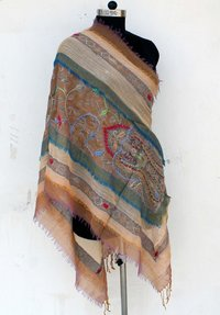 Hand Woven Boiled Wool Shawl