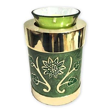 Green Garden Tealight Keepsake Urn for Ashes