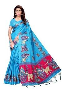 Matki Colour Combination Silk Saree