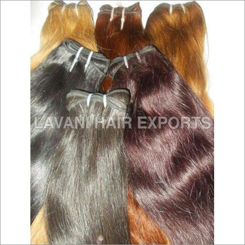 Coloured Temple Human Hair Extension