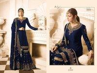Drashti Dhami NEVY BLUE georgette SHARARA style Suit