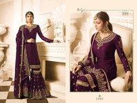 Drashti Dhami PURPLE georgette SHARARA style Suit