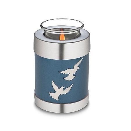 Tealight Candle Flying Doves Keepsake Cremation Urn
