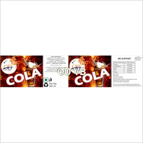 Cola Flavoured Soft Drink