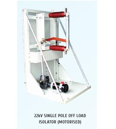 22kV Single Pole Off Load Motorized Isolators