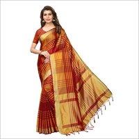 Block Cotton Silk Saree