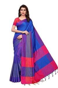 Two Tone Namo Cotton Silk Saree