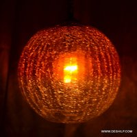 BALL SHAPE CRACK GLASS COLOR WALL HANGING LAMP