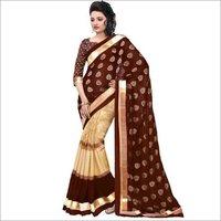 New Chocolate silk saree