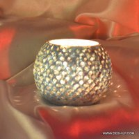 BOWL SHAPE DOTTED CANDLE VOTIVE