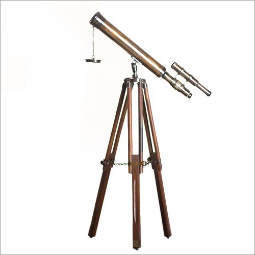 Tripod Antique Double Barrel Telescope