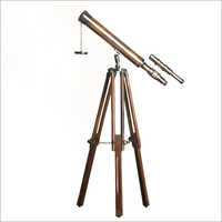 Tripod Antique Double Barrel Telescope