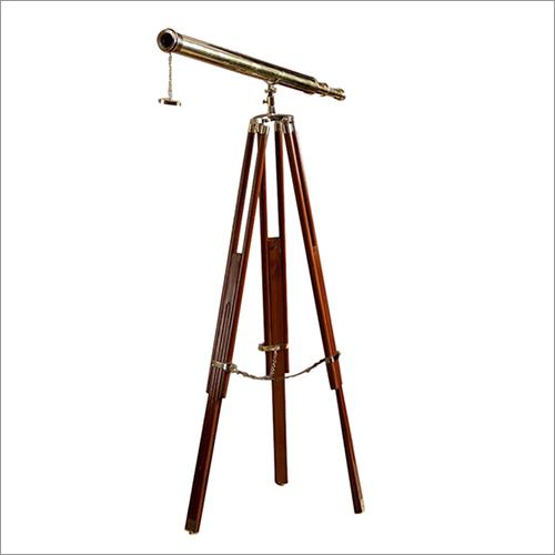 Antique Brass Telescope