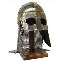 Antique Steel Chain Mail Medieval Viking Helmet