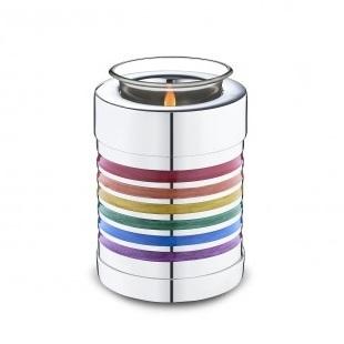 Tealight Pride Rainbow Cremation Urn