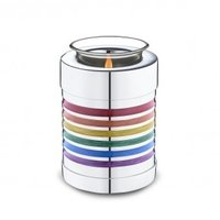 Tealight Pride Rainbow Cremation Urn