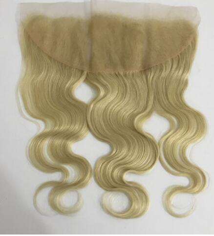 Bleached knots hair closures