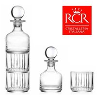 RCR Combo Set 1 Pc Decanter-345ml 2Pcs Glass-367ml